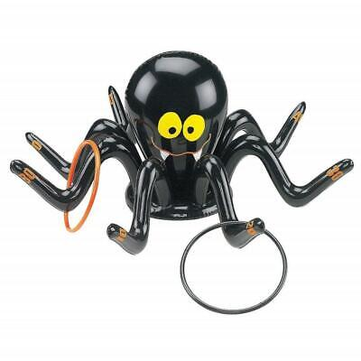 Amosfun Halloween Inflatable Ring Toss Game Halloween Party Game Outdoor Party Game Spider Toys PVC Toys with 3 rings for Kid