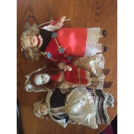 Three Hungarian dolls
