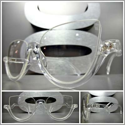 CLASSIC 60s RETRO CAT EYE Style Clear Lens EYE GLASSES Transparent Fashion (Transparent Frames)