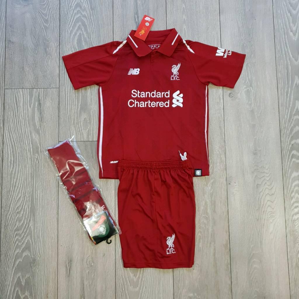 2019 Liverpool Football Kit 4 11 Years Kids M Salah Firmino In