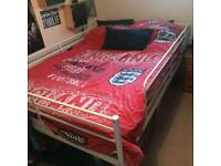 IKEA metal frame double bed