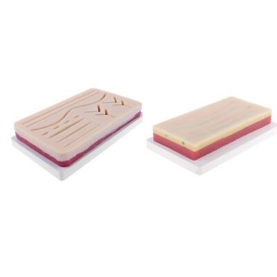 2pcs Anatomy Wound Normal Suture Pad Silicon Human Skin Lab Equipment Kits