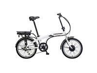 Viking Harrier electric folding bike / e-bike bicycle white color 20'' wheels
