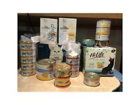 Selection of wet cat food