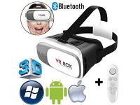 3D VR Box 2.0 Virtual Reality Google Glasses Cardboard Video Game Remote Control