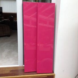 2 Pink ikea shelves