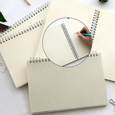 Simple A5 Spiral Coil Note Book Diary Journal Memo Blank Paper Page Stationery