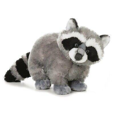 "Aurora 12"" Bandit Raccoon Flopsie Plush Stuffed Animal Toy #30511"