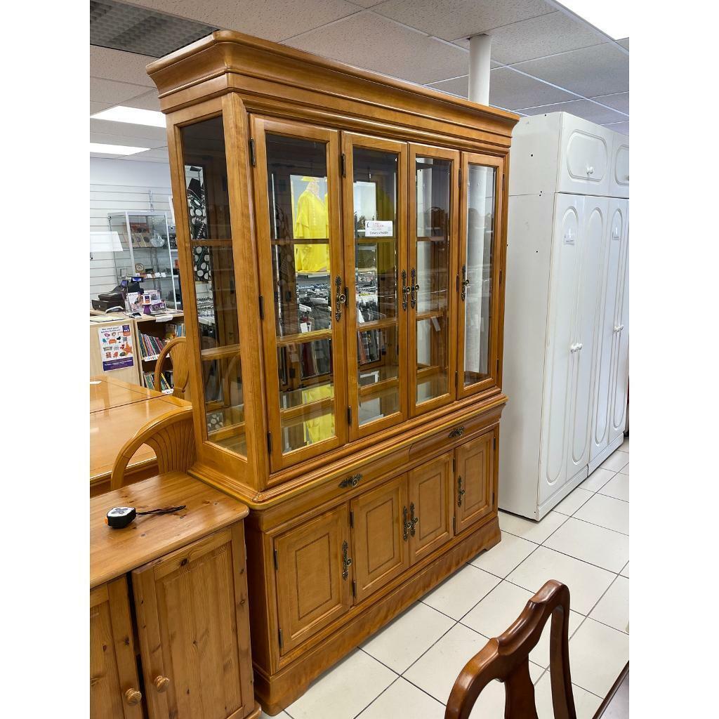 Wooden Glass Display Cabinet   in Norwich, Norfolk   Gumtree