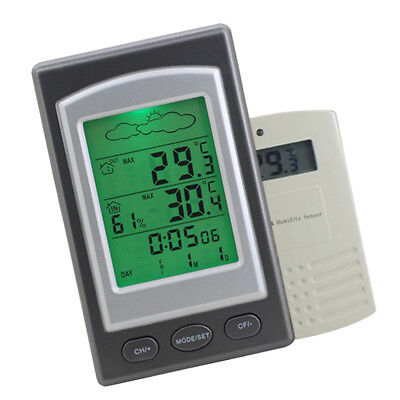 Remote Wireless Digital Indoor Outdoor Thermometer Temperature Humidity