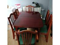 Dinning table for six with chairs