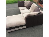 Used corner suit with back cushions good condition from dfs