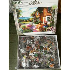 Cottage House jigsaw puzzle 1000 pieces