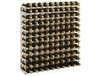 Wine Rack for 120 Bottles Solid Pinewood-282472