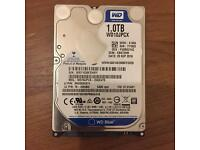 Western Digital 1TB laptop hard drive