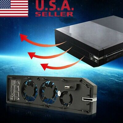 3 Fan 2 USB Cooling Cooler Exhauster Intercooler for One Console Controller