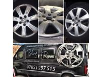 Mobile alloy wheel refurbishment north west volvo Mercedes Benz BMW vauxhall Ford
