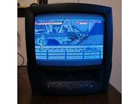 Philips 14 Inch CRT TV With Remote. Retro Gaming. Oldskool Console Tech