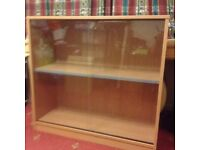 GLASS CABINET/BOOK SHELVES - GOOD CONDITION