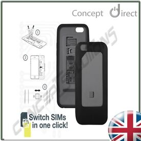 DUAL Sim Case Cover for iPhone 6. Micro✔Standard✔ Compatible. 1-Click Switch✔