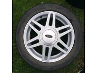 3 Ford Fiesta 15 inch alloy wheel and tyre 195/50/R15 £150 all 3 or £60 each