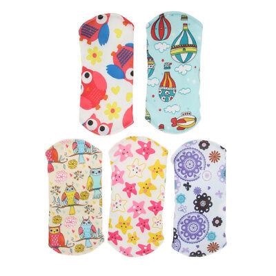 Wiederverwendbare Tuch Menstruation Pads (5 Bambus wiederverwendbare Damenbinden Pads / Tuch Menstruation Pads)