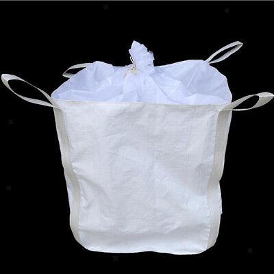 2T/ 4400lbs FIBC Bulk Bag Super Sack w/ Duffle Top & Discharge Spout