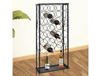 Wine Rack for 28 Bottles Metal-240942