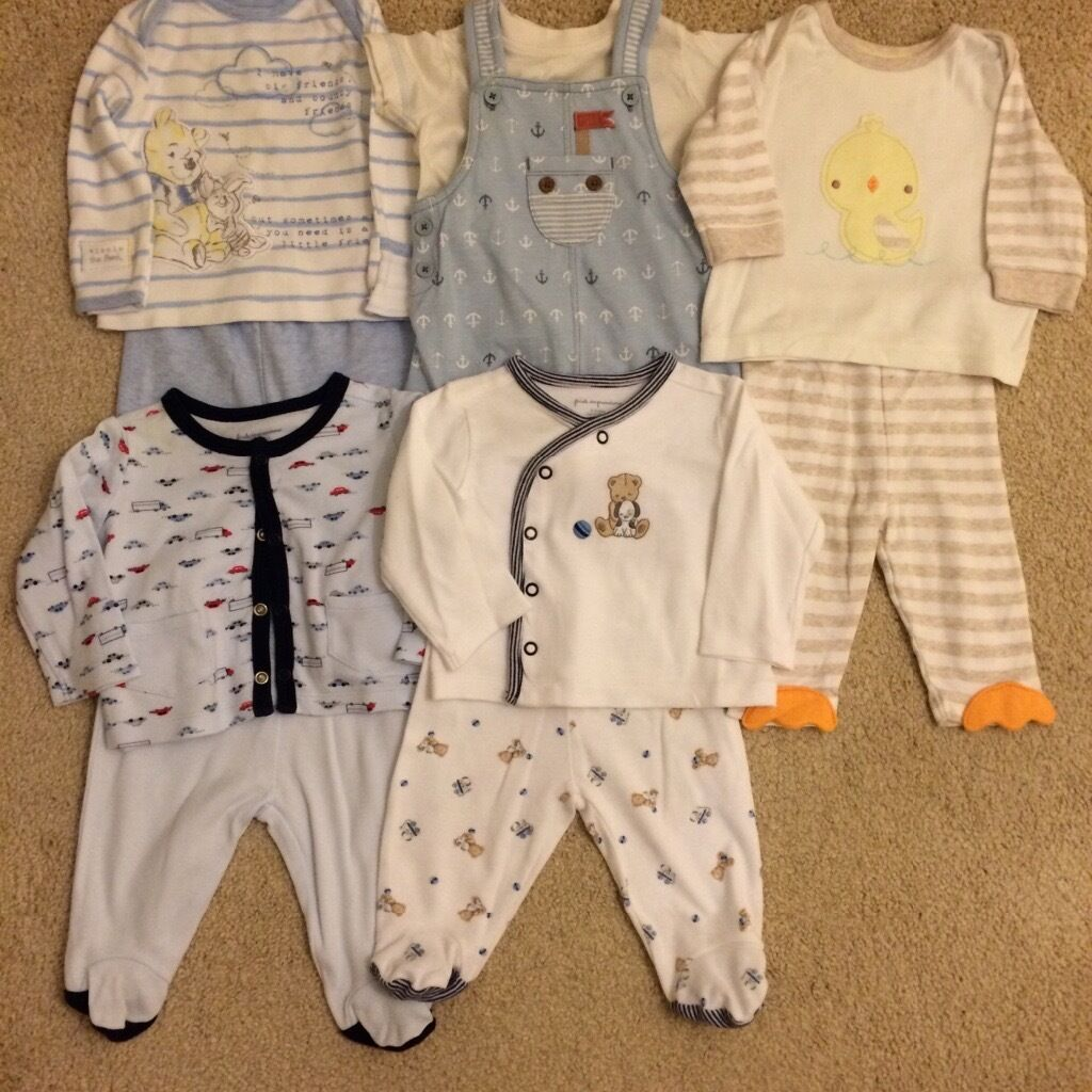 780facd7505b Will post! Like new. Set 7 x 10 piece baby boy clothes age 0-3 months ...