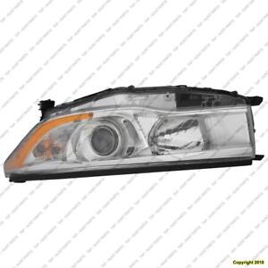 Head Lamp Driver Side With Bright Chrome Bezel High Quality Toyota Highlander 2014-2016