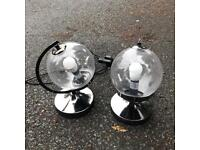 Pair of bed side table lamps lights