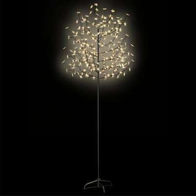 AX Albero Natale Artificiale Fiori Ciliegio Tronco LED Feste Decor Negozio 51268