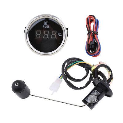 Fuel Level Sender Sending Unit,52mm 2'' Black Digital Fuel Level Gauge Meter