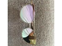 rose gold monochrome sunglasses