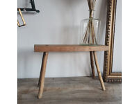 Vintage Rustic Stunning Antique Parlour Hardwood Table or Display Bench