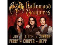Hollywood Vampires Wembley 2 no. tickets TODAY