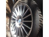 Brand new tyre and fox racing alloys