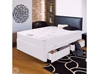 Brand New 5FT King Size Divan Bed Black Base with 13inch Pocket Sprung Memory Foam Kingsize Mattress