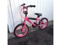 BMX WICKED PINK CHILDS BIKE