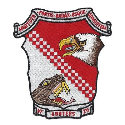 USN VF-211 Fighter Squadron 211 Navy Military Patch HUNTERS Eagle and Snake