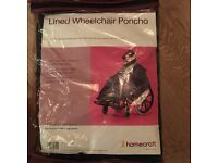 Lined wheelchair poncho – brand new in original packaging