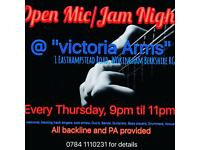 Open Mic/Jam Night @ Victoria Arms, Wokingham.