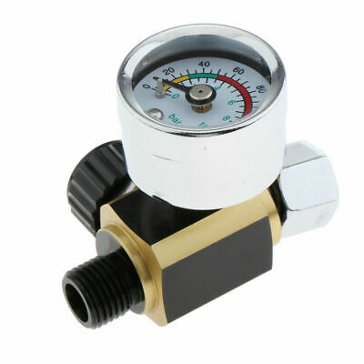 High Flow Spray Gun Air Pressure Regulator With Gauge 0 To 140 PSI For Air Tools