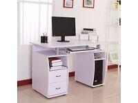 Wooden Office Computer PC Table Wood Desk Desktop Home Furniture Workstation