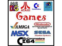 * Wanted ~ All Vintage Retro Computer Games For Amiga, Sega, Atari, Nintendo, Commodore Etc ~ *
