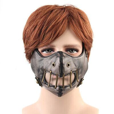 Maskerade Motorrad Halb Gesicht Maske Schädel für Motorradfahrer - Bronze