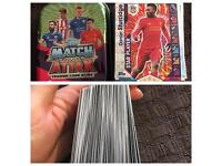 Match attax cards and tin