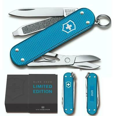 Victorinox 2020 Limited Edition Swiss Army Knife Classic SD Aqua Blue Alox  NEW