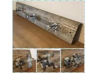Coat hooks/Reclaimed/vintage/rustic/Furniture/taps/Wood/Bespoke