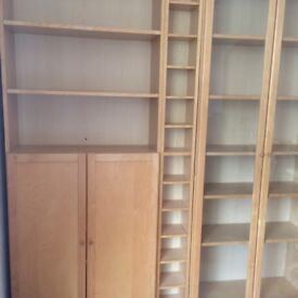 Billy Wall units from Ikea Birch colouredp